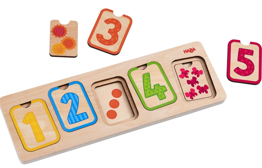 puzzle cu numere lemn