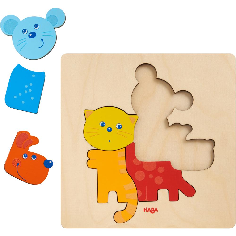 puzzle incastru animale haba